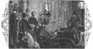 Lincoln's safe arrival in Washington , as depicted in  Pinkerton's book.