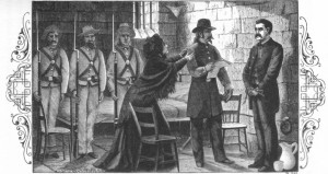 Webster receive his warrant for execution, as depicted in Pinkerton's book.