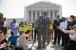 Wade Henderson of the Leadership Conference on Civil and Human Rights speaks out against the U.S. Supreme Court's 2013 decision to strike down part of the Voting Rights Act. Click on the pic to read the New York Times story on the decision.